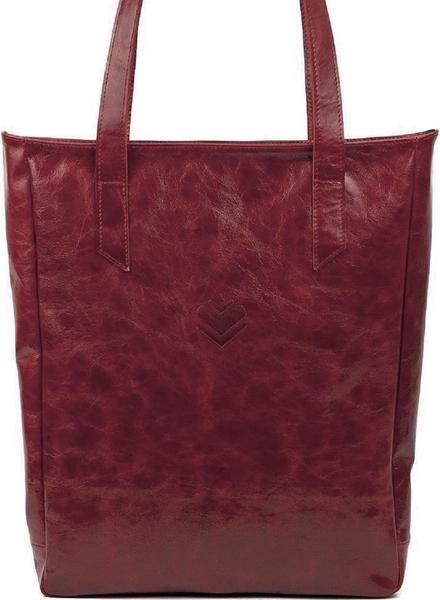 Kožená taška SHOPPER - vínová